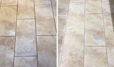 Ceramic tiles and grout demo cleaned for a client.